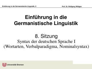 Einf hrung in die Germanistische Linguistik