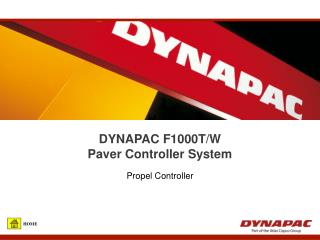 DYNAPAC F1000T/W  Paver Controller System