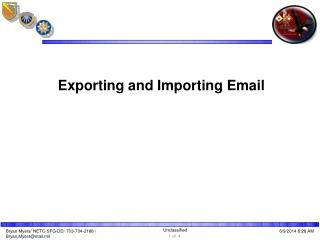 Exporting and Importing Email