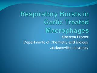 Respiratory Bursts in Garlic Treated Macrophages