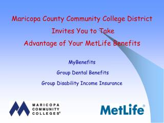 MyBenefits Group Dental Benefits Group Disability Income Insurance