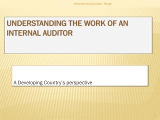 Understanding the work of an internal Auditor