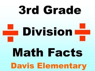 3rd Grade  Division Math Facts