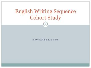 English Writing Sequence Cohort Study
