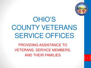 OHIO'S COUNTY VETERANS SERVICE OFFICES