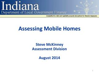 Assessing Mobile  Homes
