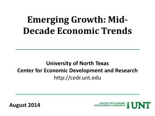 Emerging Growth: Mid-Decade Economic Trends