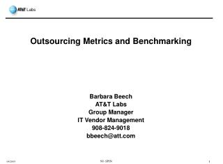 Outsourcing Metrics and Benchmarking