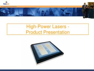 High-Power Lasers - Product Presentation