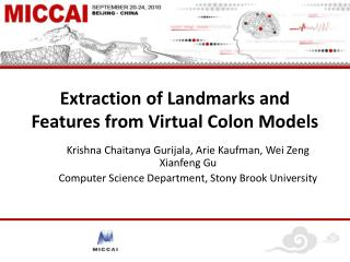 Extraction of Landmarks and Features from Virtual Colon Models