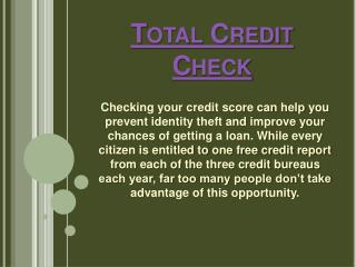 Total Credit Check