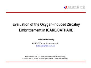 Evaluation of the Oxygen-Induced Zircaloy Embrittlement in ICARE/CATHARE