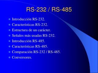 RS-232 / RS-485