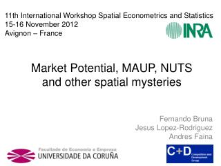 Market  Potential , MAUP, NUTS  and other spatial mysteries