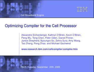 Optimizing Compiler for the Cell Processor