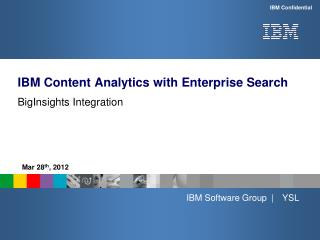 IBM Content Analytics with Enterprise Search
