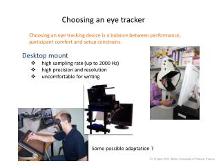 Choosing an eye tracker