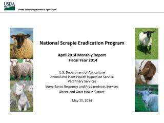 National Scrapie Eradication April 2014 Monthly Report