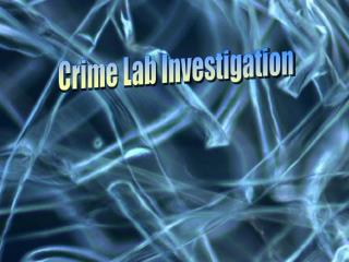 Crime Lab Investigation