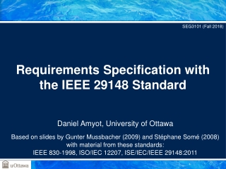 Requirements Specification with the IEEE 29148 Standard