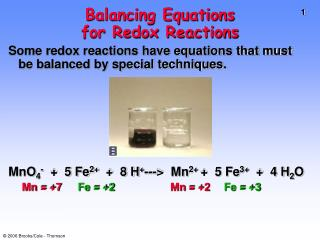 Balancing Equations  for Redox Reactions