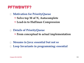 Software Aspects of PQ