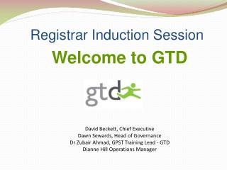 Registrar Induction Session