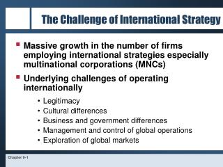 The Challenge of International Strategy