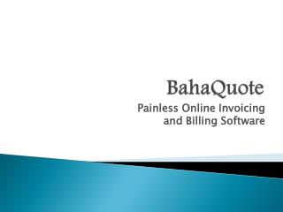 Online Invoicing and Billing Software