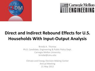 Direct and Indirect Rebound Effects for U.S. Households With Input-Output Analysis