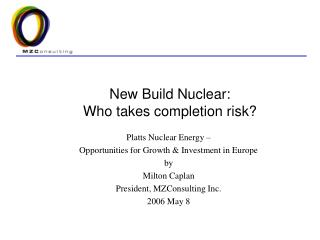 New Build Nuclear: Who takes completion risk?