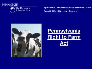 Pennsylvania  Right to Farm Act