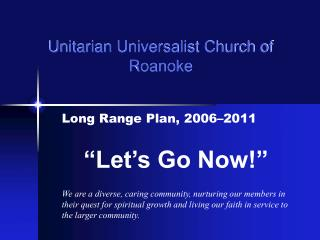 Unitarian Universalist Church of Roanoke
