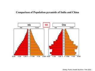 Comparison of Population pyramids of India and China