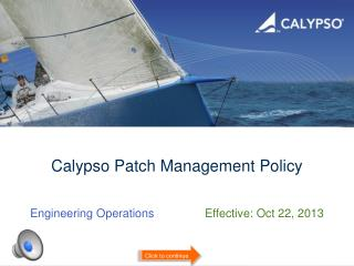 Calypso  Patch Management Policy