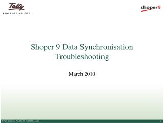 Shoper 9 Data Synchronisation Troubleshooting