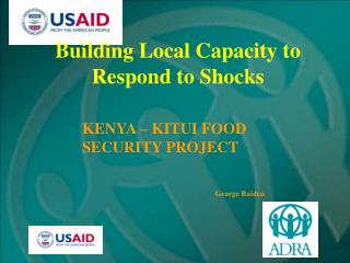 Building Local Capacity to Respond to Shocks