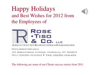 Happy Holidays and Best Wishes for 2012 from the Employees of