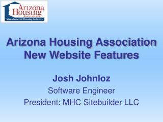 Arizona Housing Association New Website Features