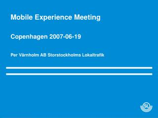 Mobile Experience Meeting