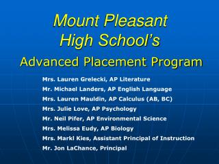Mount Pleasant High School's