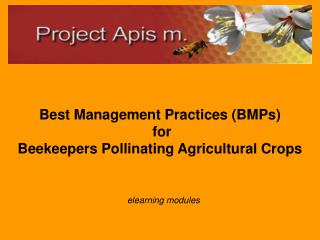 Best Management Practices (BMPs)  for  Beekeepers Pollinating Agricultural Crops