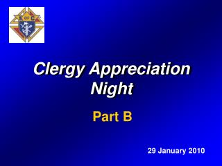 Clergy Appreciation Night