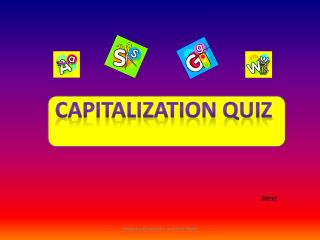 Capitalization quiz