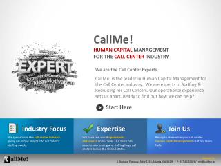 We are the Call Center Experts.
