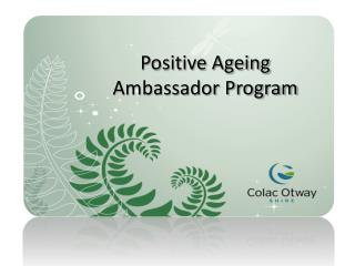 Positive Ageing Ambassador Program