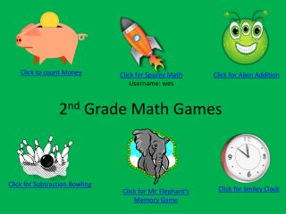 2 nd  Grade Math Games