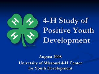 4-H Study of Positive Youth Development