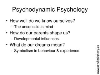 Psychodynamic Psychology