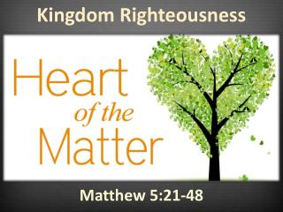 Kingdom Righteousness